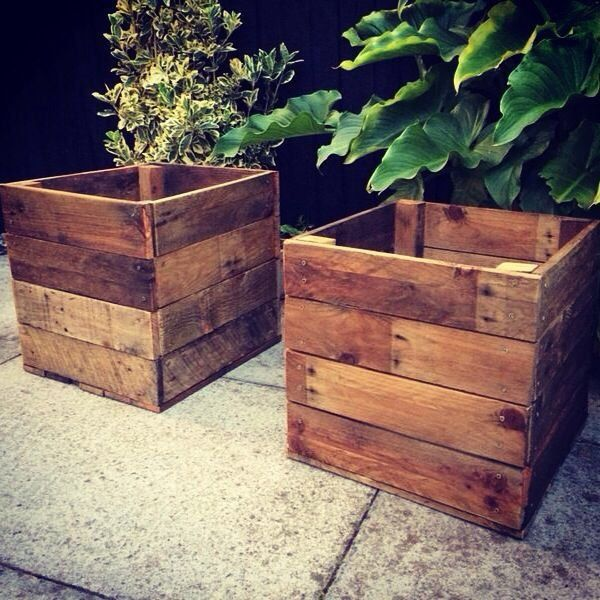 Pallet Planter Pallet Furniture Pinterest Concept Of Wooden