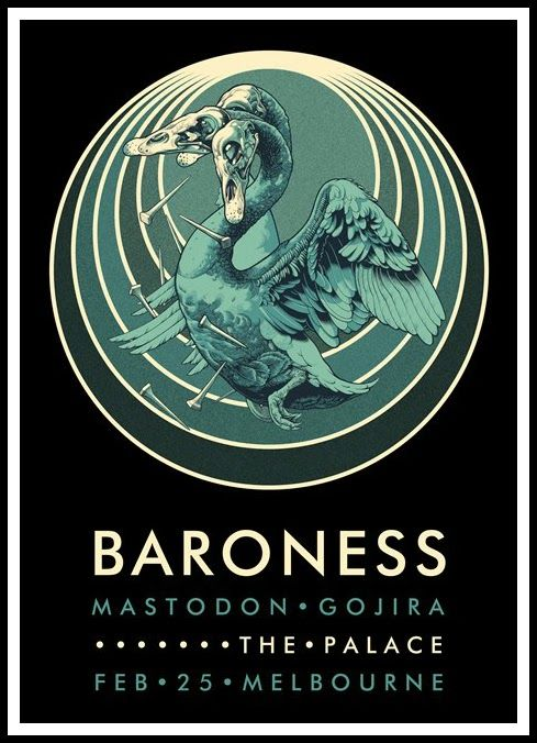 John Baizley Baroness Australia Tour Posters On Sale