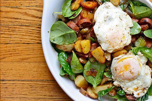 Joy the Baker Spinach and Potato Breakfast Hash - Joy the Baker