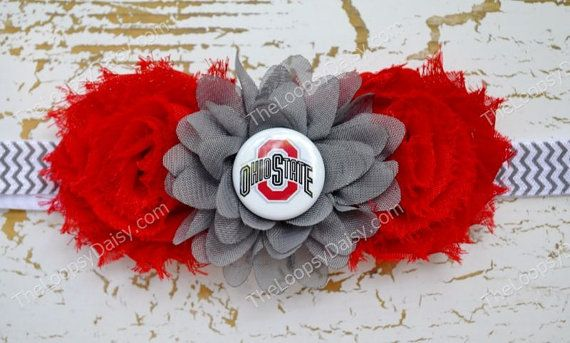 Ohio State Headband Ohio State Baby Baby Girl by TheLoopsyDaisy