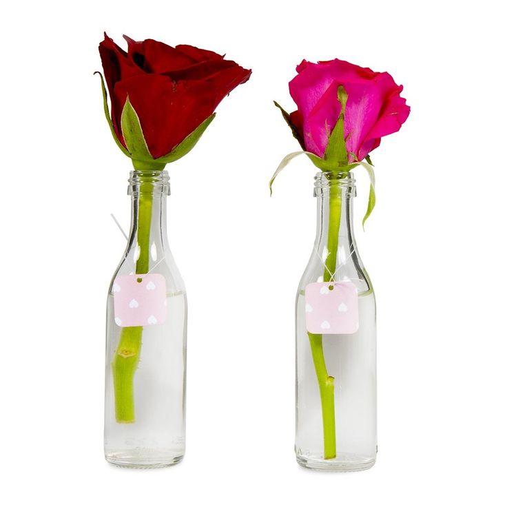 Aqua Single Rose In Bottle