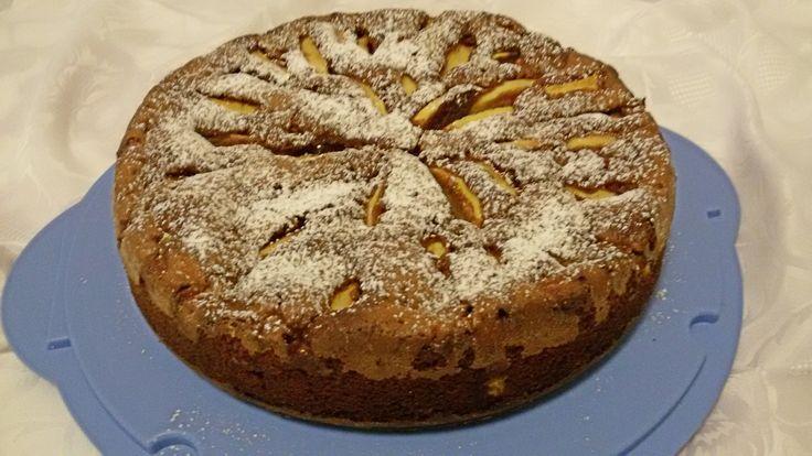 Torta+di+mele+e+cioccolato+fondente