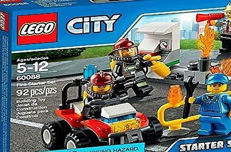 LEGO City 60088: Fire Starter Set Join the firefighters with the LEGO City Fire Starter Set, including an awesome fire ATV, fuel pump, pipe with flames and four minifigures. Suitable for builders ages 5 t (Barcode EAN = 0659213112255) http://www.comparestoreprices.co.uk/latest1/lego-city-60088-fire-starter-set.asp