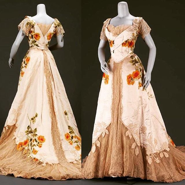 Evening dress by House of Worth, ca. 1902.