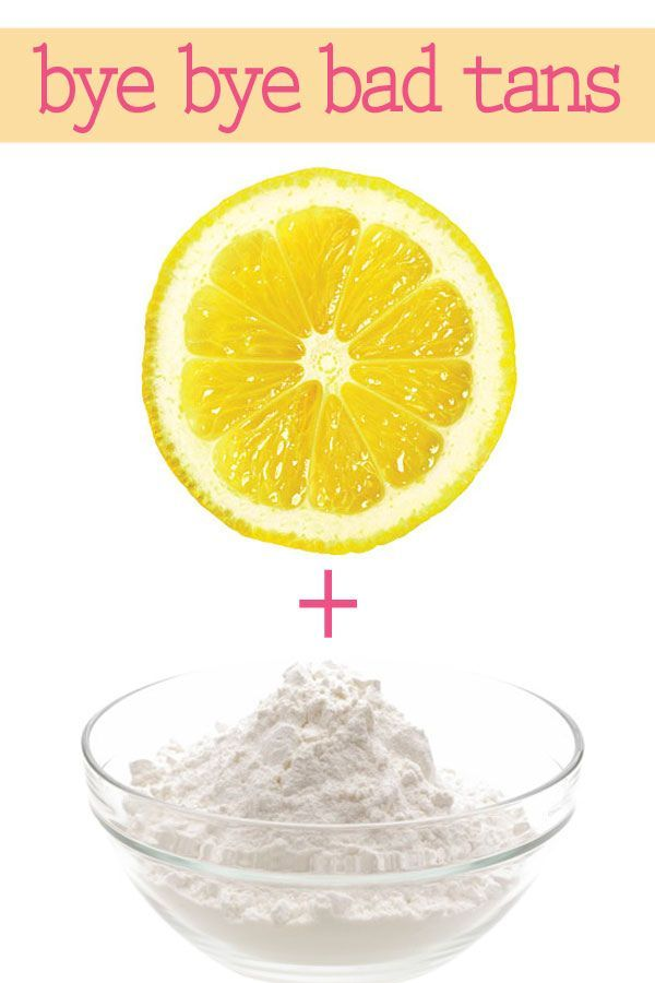 How to Fix a Bad Fake Tan get rid of streaks in a snapMix together freshly squeezed lemon juice with a few teaspoons of baking soda until the powder becomes a paste (not liquid). Then take a shower and exfoliate areas of extreme streakiness using the lemon-powder mixture until the unwanted tan disappears.