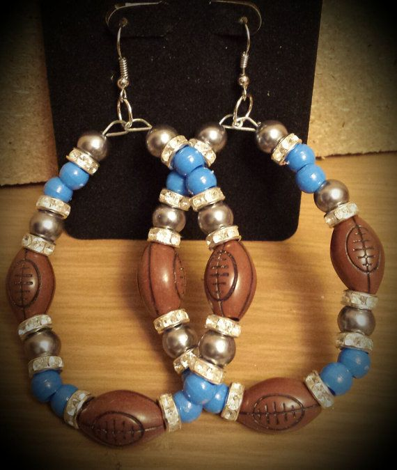 Detroit Lions inspired Earring by THEACCESSORIEDOLL on Etsy