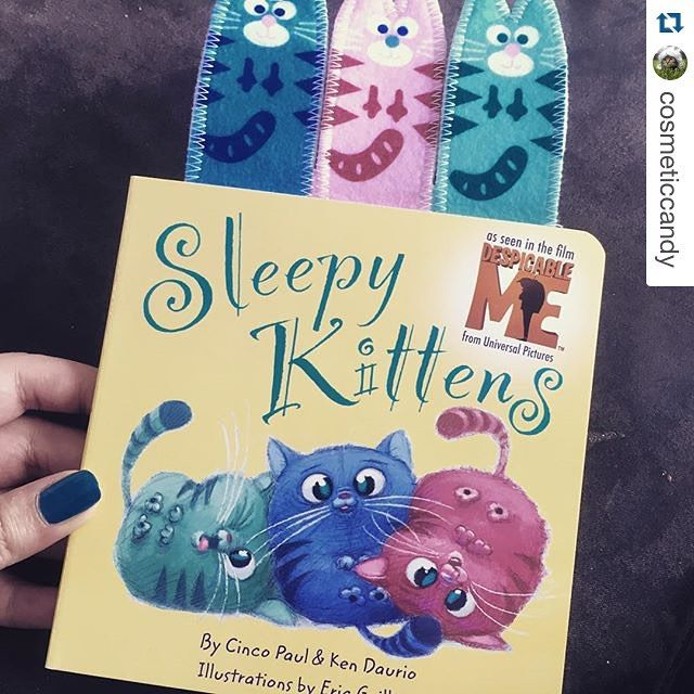 #SleepyKittens is such a great little story for the little ones, with cute finger puppets to. #Repost @cosmeticcandy with @repostapp. ・・・ New book for the babies! #sleepykittens #books #wordery #despicableme #minons #readeveryday #bookworm