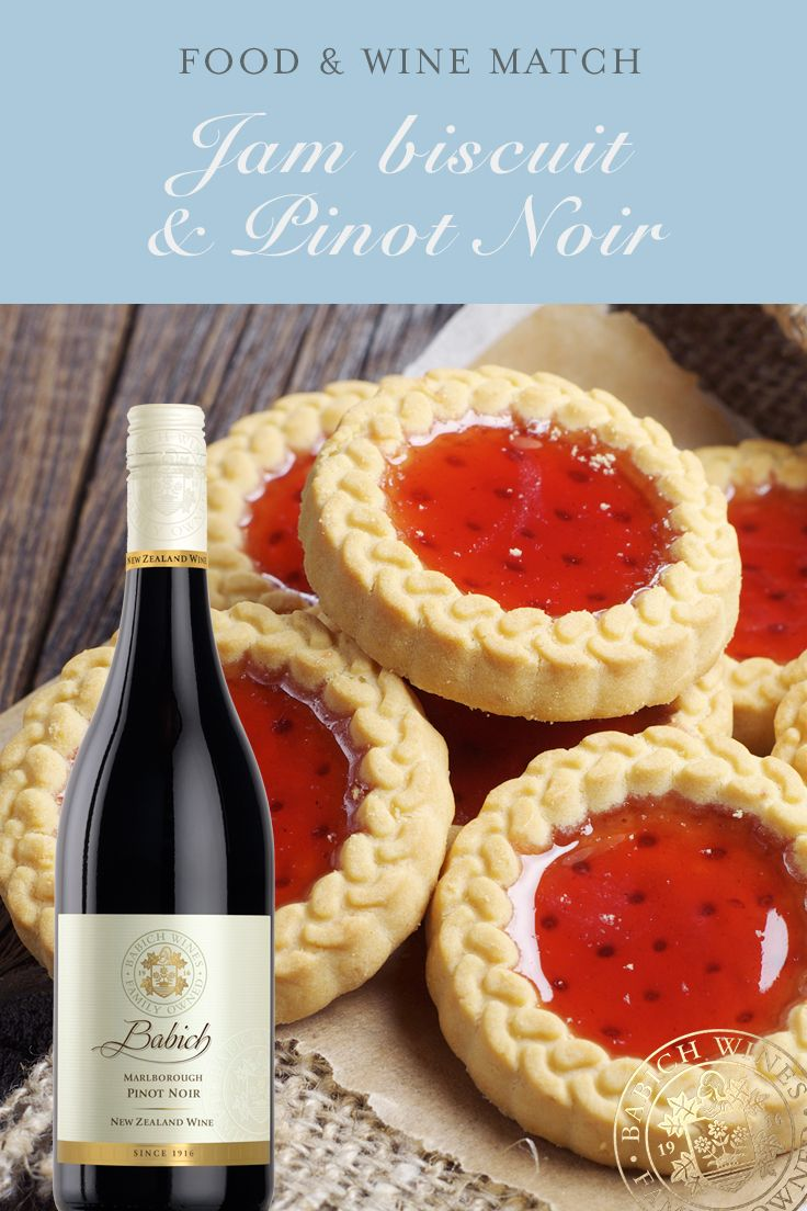 Move Over Milk And Hello Wine And Cookies Marlborough Pinot Noir Matched With Jam Cookies Wine Nzwine Pinotnoir Cookies Wine Recipes Jam Cookies Food