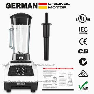 GERMAN Original Motor 3HP BPA FREE commercial smoothies power food mixer juicer electric food processor professional blender (32681197616)  SEE MORE  #SuperDeals