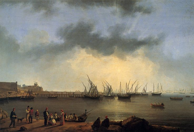 Nápoles, el Puerto y el castillo de Manfredonia