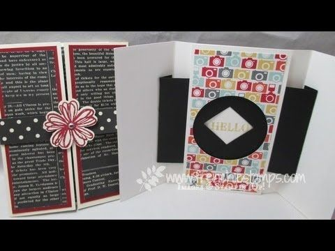 Shutter opening/closing greeting card