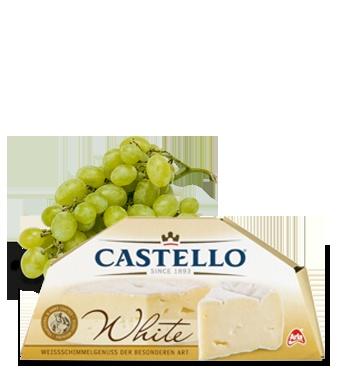 White Castello cheese