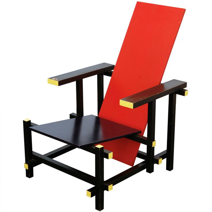 Red/Blue Chair By Cassina   Design Gerrit Rietveld