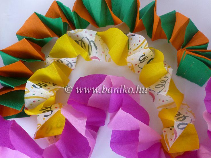 farsangi dekoráció krepp papírból - Google keresés