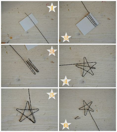 Linfa Creativa: Tutorial: Stelle in fil di ferro da utilizzare come cake-topper.