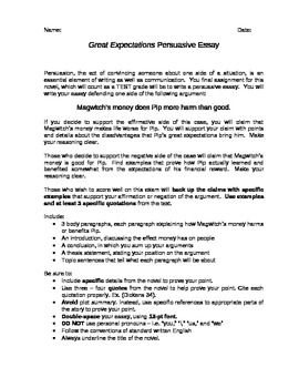 Essay With Thesis This Essay Assignment Based On Great Expectations By Charles Dickens  Asks Students To Explain Whether Or Not Magwitchs Money Benefited Pip Pmr English Essay also Into The Wild Essay Thesis Great Expectations Essay  Teacherspayteachers  Pinterest  Thesis  English Essay Structure