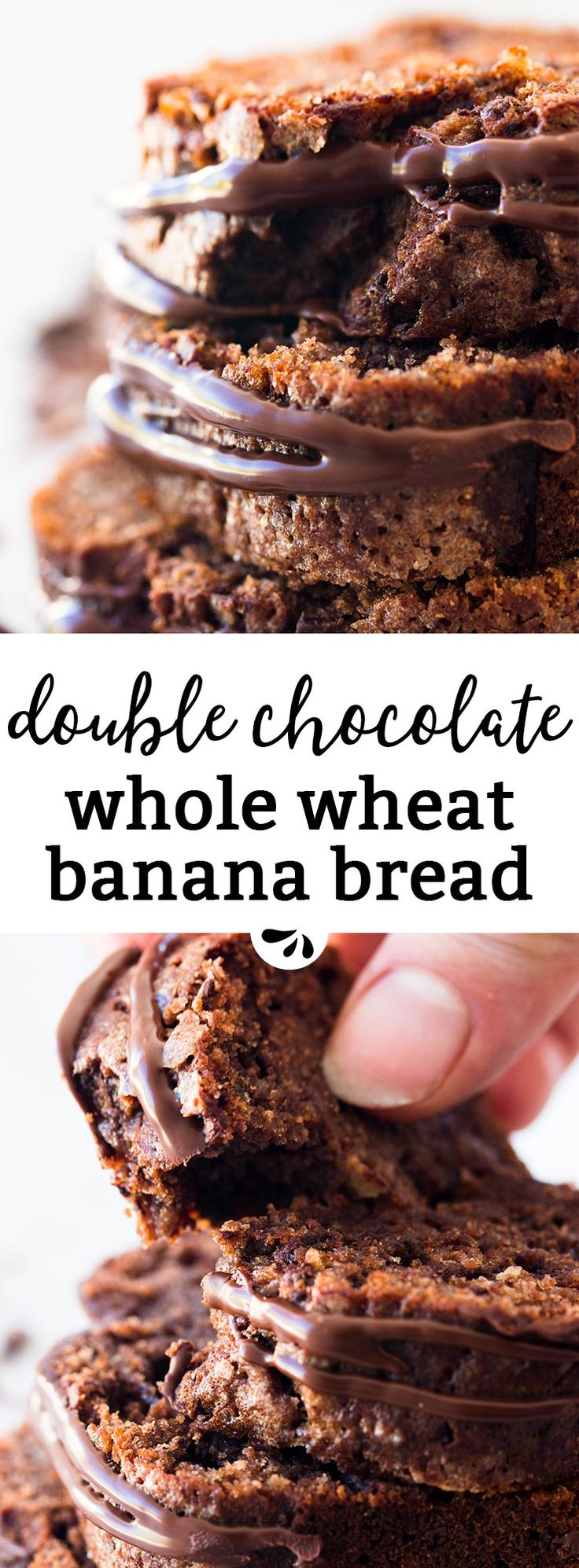 Easy and delicious, this Whole Wheat Double Chocolate Banana Bread whips up in a single bowl! You can even freeze it to always have a delicious snack on hand. It's made with Greek yogurt, oil and less sugar than traditional banana bread recipes. Perfect for busy school mornings, as a back to school treat or just because - double chocolate banana bread is always a good idea! The recipe is so simple, you can also make it as a fun weekend baking project with the kids. They'll love to help!