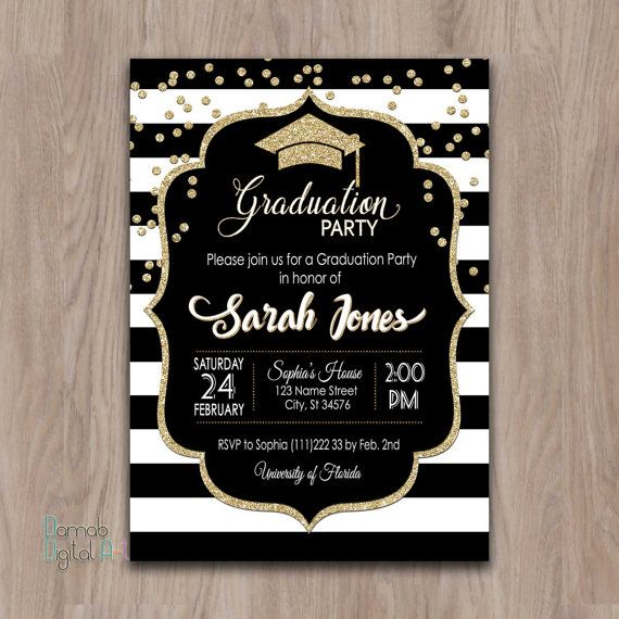 Graduation Party Invitation graduation invitation by DamabDigital
