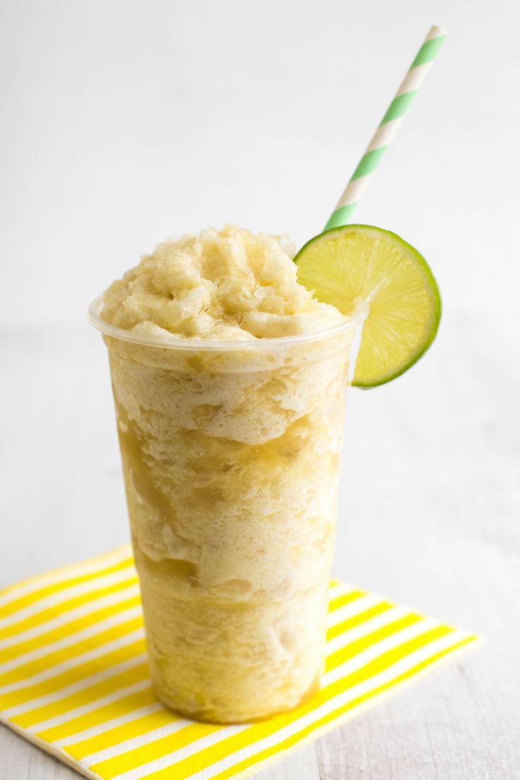 Make this yummy Pineapple + Lime Slush for Cinco De Mayo.