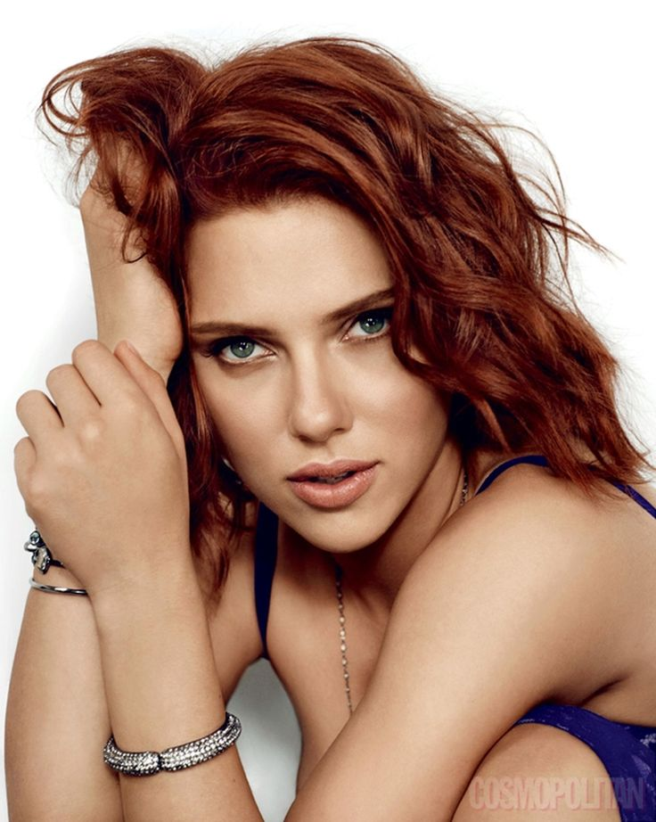 Scarlett Johansson should stay this color.. she rocks the red!