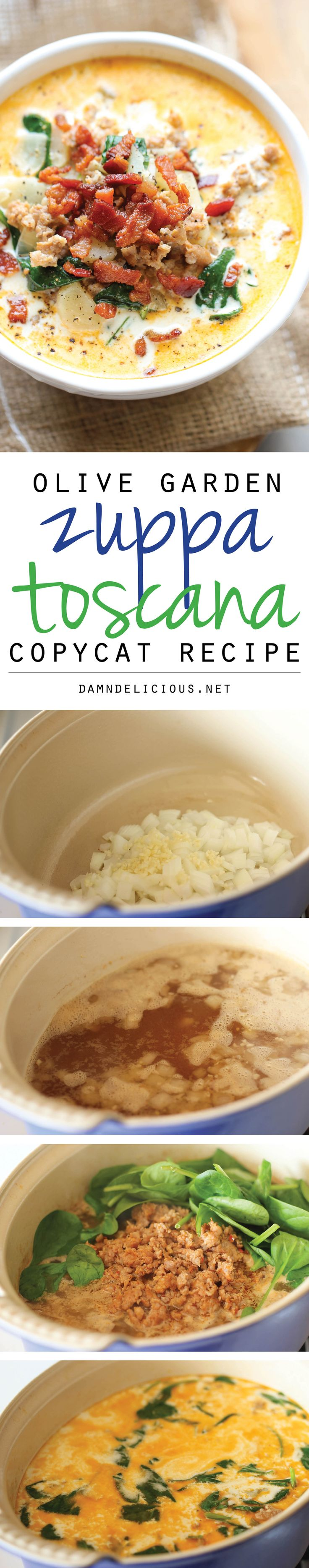 Olive Garden Zuppa Toscana Copycat Recipe - omit the potatoes for Low Carb!!