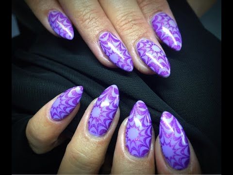 Holographic No Water Marble Nail Art   & Bundle Monster Poli Peel Review! - YouTube