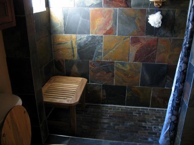 Slate Tile Bathroom Designs Google Search