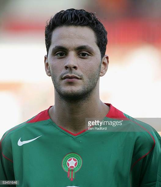 A portrait of Abdelaziz Ahanfouf of Morocco prior to the International friendly match between Morocco and Togo at the Stade Diochon on August 17 in...