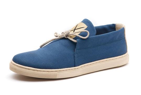 Saint Vacant Footwear - Leslie, Blue coated canvas