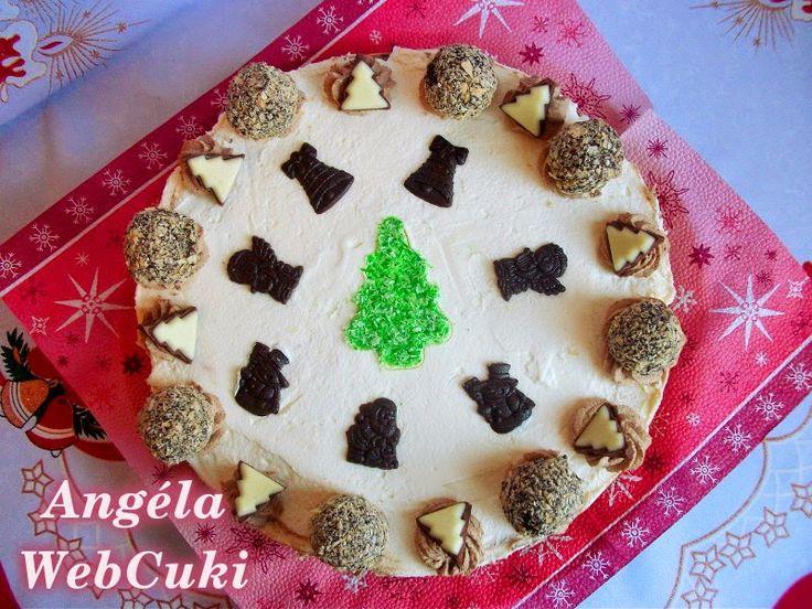 Tejszínes karácsonyi torta http://angelawebcuki.blogspot.hu/2014/12/tejszines-karacsonyi-torta.html