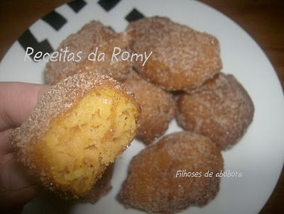 Receitas da Romy: Filhoses de abóbora