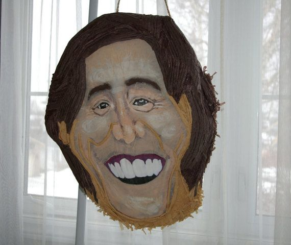 Jim Carrey Piñata by WoWpinatas on Etsy