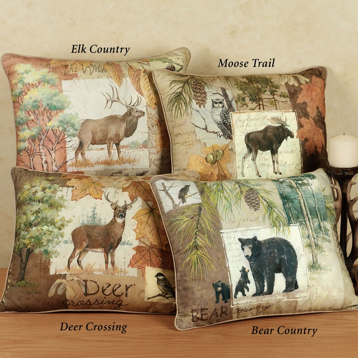 Hunting Lodge Bedroom: Image Detail For -The Rustic Wildlife Decorative Pillows