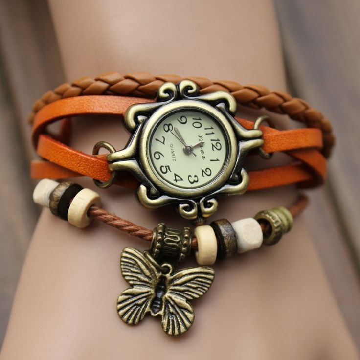 Trendy ladies leather watch-Jewellery-Swastique