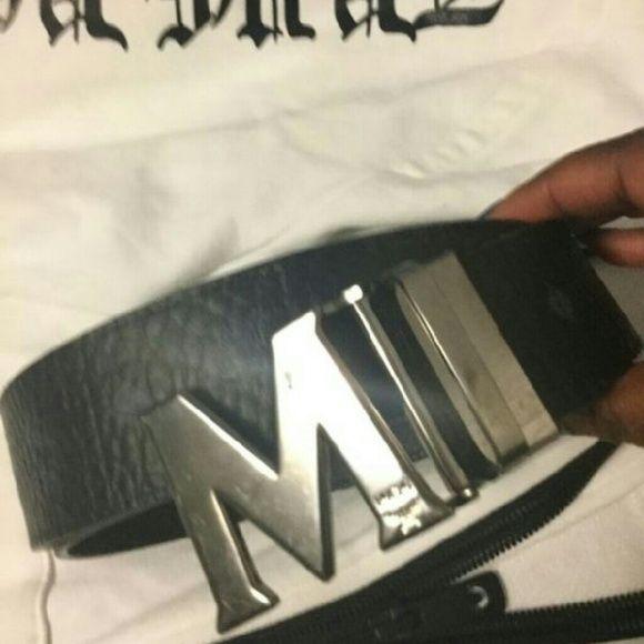 MCM belt Men's black MCM belt MCM Accessories Belts