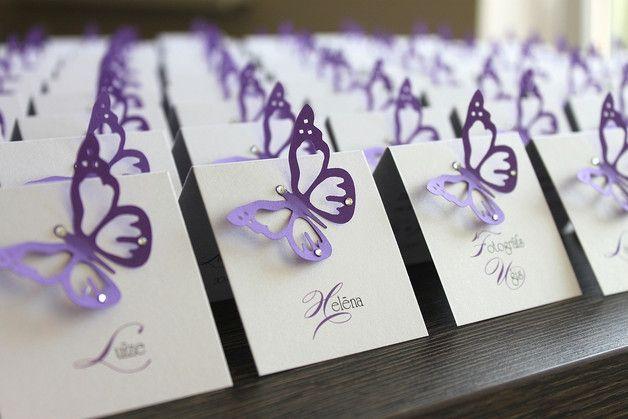 hochzeit hochzeits tischkarten tischkarte namenskarten namenskarte platzkarten platzkarte hochzeitskarten hochzeitskarte geburtstag handgefertigt lavendel lila weiß