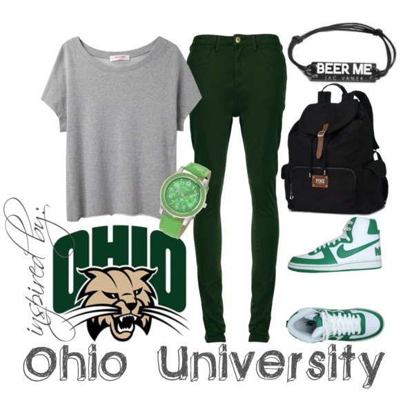 inspired by: ohio university, created by jenniferbranch on Polyvore
