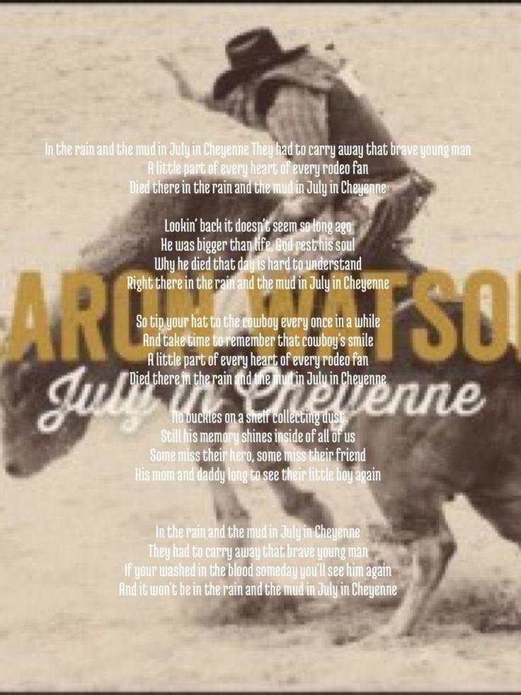 """In the rain in the mud in July in Cheyenne"""