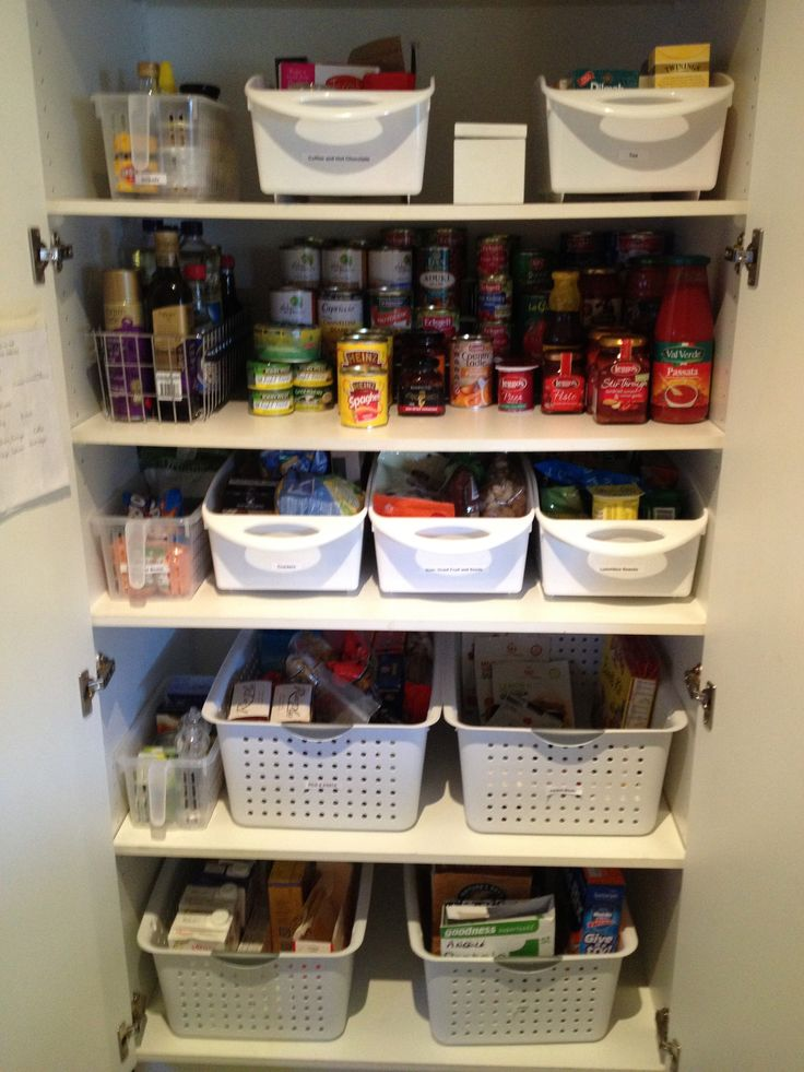 Organising a kitchen pantry with deep shelves  Small Pantry OrganizationOrganisation  ...