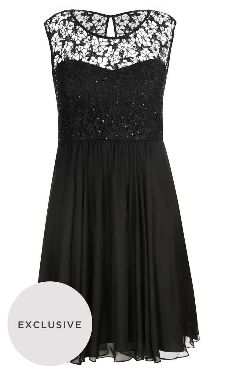 City Chic - SPARKLE LOVE DRESS - Women's Plus Size Fashion