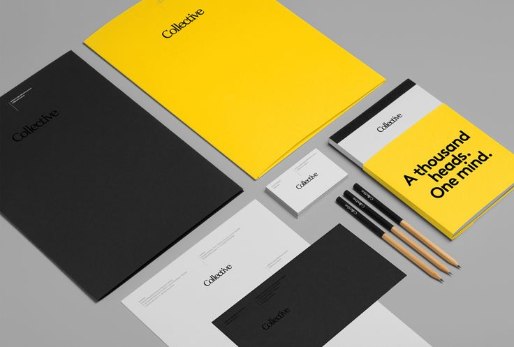 Logotype, stationery and triplex business cards designed by Hey for Turkish content, communication and design agency Collective.