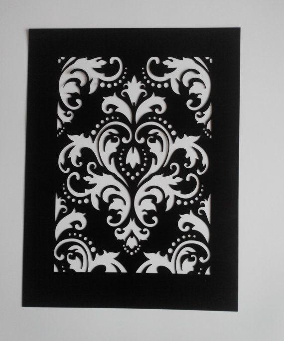 wiederverwendbare Kunststoff Damast Schablone Malerei von YarmArt