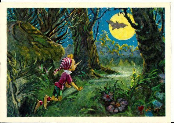 Postcard  Pinocchio Buratino Illustration ''The by LucyMarket