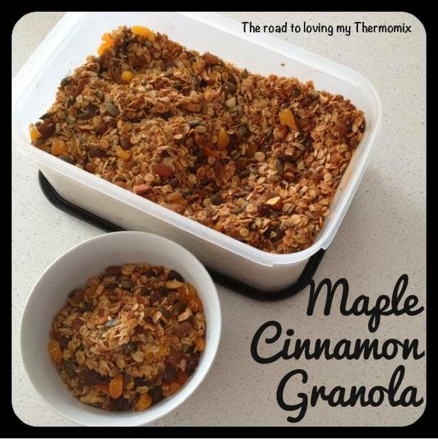 The road to loving my Thermomix: Maple Cinnamon Granola