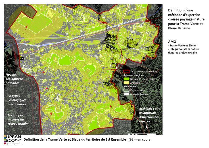 Elaboration de la trame verte et bleue de la Communauté d'Agglomération d'Est-Ensemble - URBAN-ECO SCOP