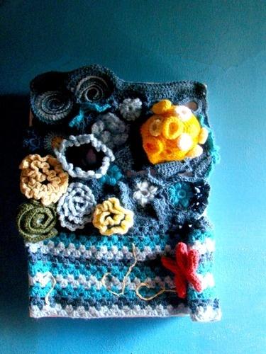MammaLuna -  hanging art - crochet #art #hanging art #free from crochet #fiber art
