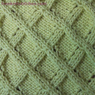 Free knitted trim patterns Lattice Lots of different stitches here :) Knit ...