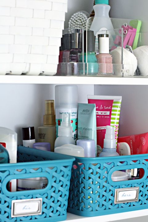 Delightful IHeart Organizing: Monthly Clean Home Challenge: Purge Bathroom Toiletries