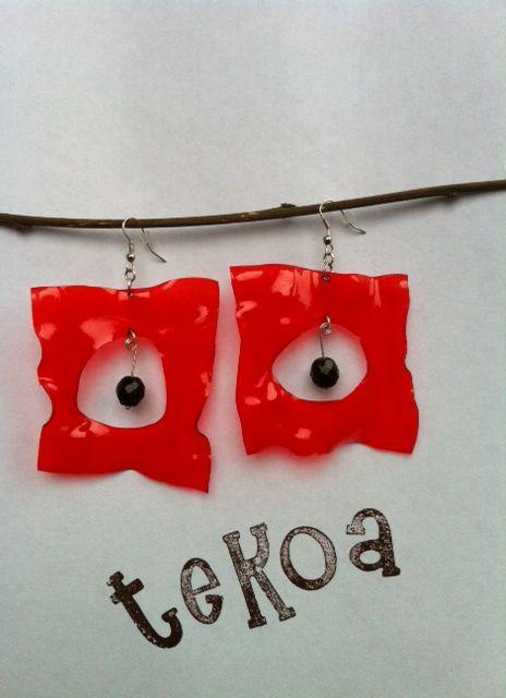 orecchini in PET