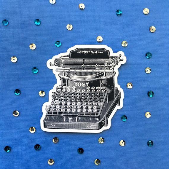 Typewriter Sticker, Vinyl Sticker Pack, Bumper Sticker, Laptop Sticker, Macbook Sticker, Waterbottle Stickers, Sticker Bomb Antique